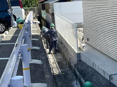 山田東1丁目付近水路工事